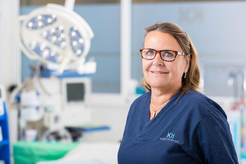 Portrett av Sissel Finvold ved Klinikk Haukeland i Drammen