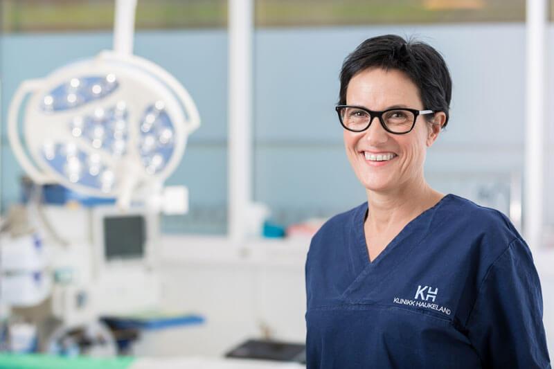 Kjersti Edvardsen ved Klinikk Haukeland i Drammen
