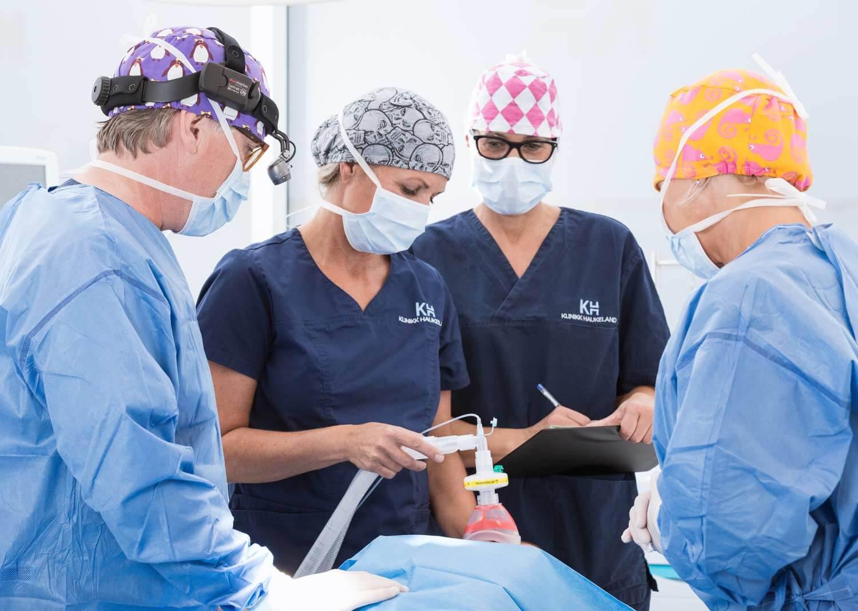 Under brystoperasjon hos Klinikk Haukeland i Drammen