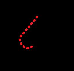 Illustrasjon av brystreduksjon i profil